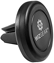 WizGear Universal Air Vent Magnetic phone Car Mount Holder Black  Setting your phone on a mount in your car has never been easier! WizGear Air Vent Car Mount for smartphones saves you the hassle of placing your smartphone securely to make sure it doe...