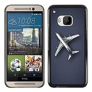 TopCaseStore / la caja del caucho duro de la cubierta de protección de la piel - Plain Airplane - HTC One M9