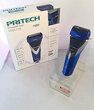 Pritech - Afeitadora impermeable con cabezal giratorio, doble ...