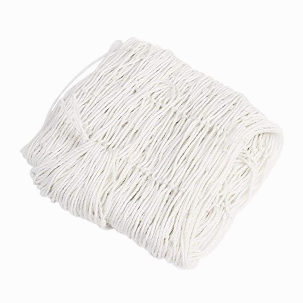 "IEVE Decorative Fish Net, 39""x78"" Unique Kid's Room Party Fishing Net Decor Ornaments Decorative Wire Mesh (White)"