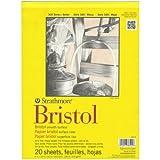 "Strathmore 300 Series Bristol Smooth Pad, 9""x12"" Tape Bound, 20 Sheets"