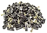 5000 Dual Black Screw-in Cable Clips for RG6 RG59 Coax Cable