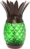 Solar Powered Pineapple Jar Light - Decorative LED Glass Table Light by GreenLighting (Green)