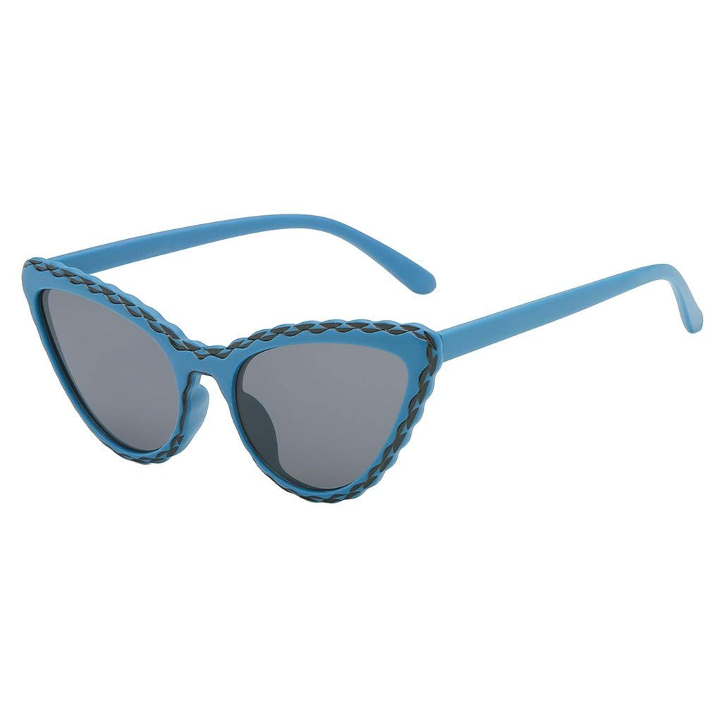 TADAMI Small Retro Pointed Vintage Frame Tinted Cat Eye Pointy Sunglasses