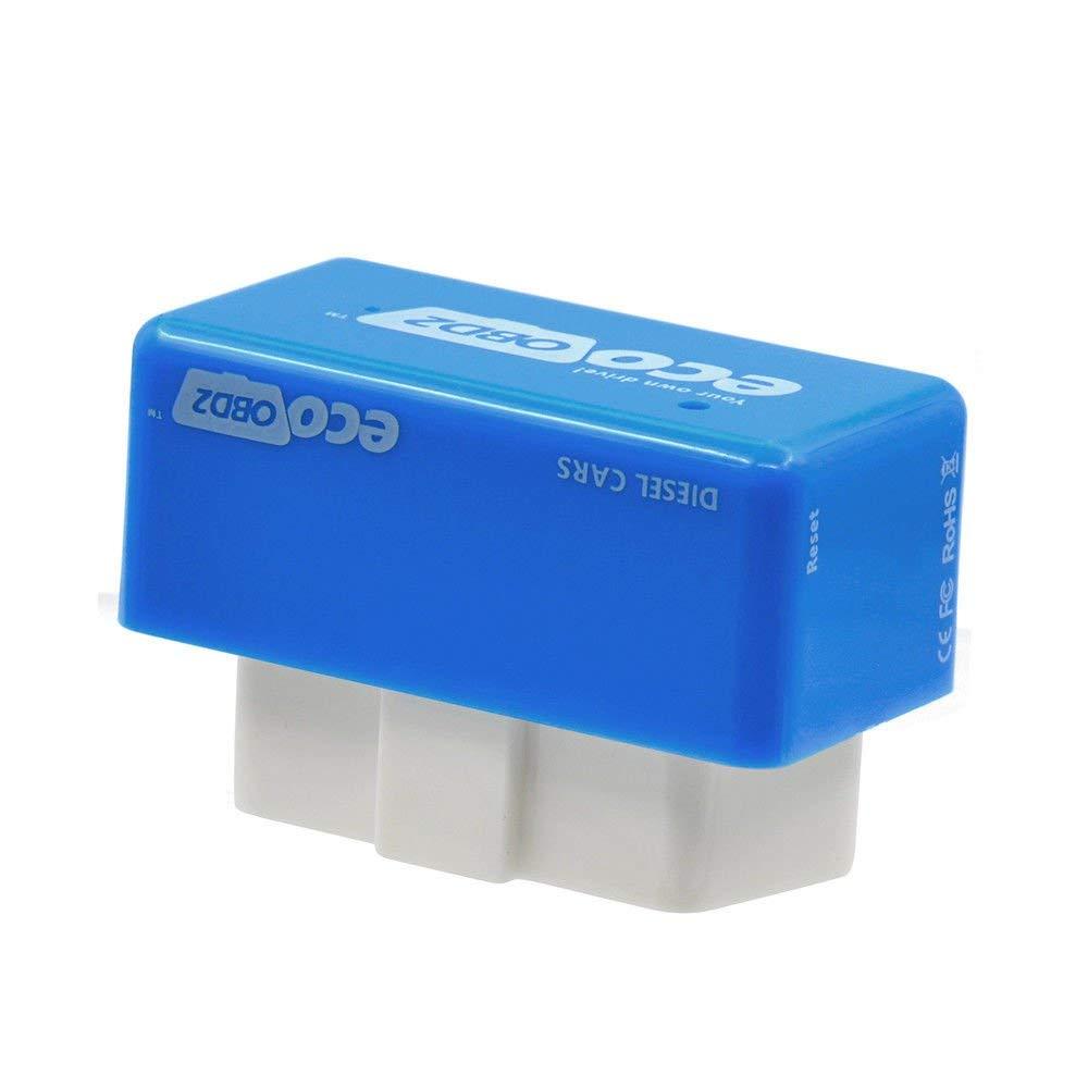 Eco OBD OBD2 Economy Fuel Saver Tuning Box Chip For Petrol Car Gas Saving Blue