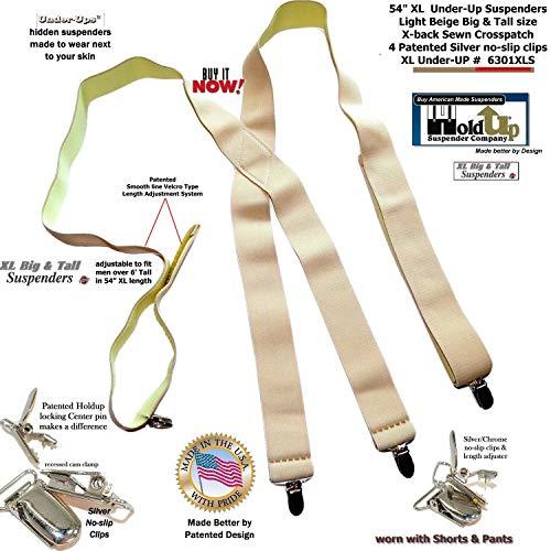 BEIGE Undergarment Suspenders Pin Clip