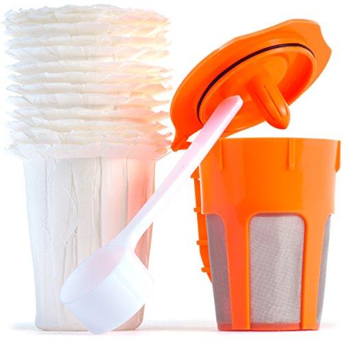 Reusable K Carafe Bundle w/ Optional Use Filters & Coffee Sc