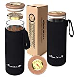 Scotte Cigar Case Humidor Gift Box Cigars jar humidifiers-Cigar Hygrometer humidifier-Travel Cigar Tube for 4 to 5 Cigars (Black)