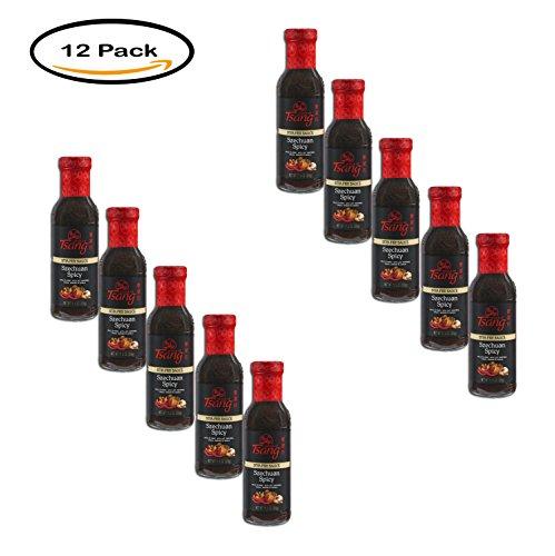 PACK OF 10 - HOUSE OF TSANG SZECHUAN SPICY Stir-Fry Sauce 11.5 oz. (Szechuan Stir Fry Sauce)