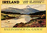 """16""""x20"""" Ireland Land of Scenery and Romance Irish Galway Dublin Travel Vintage Poster Repro Standard Image Size for Framing. We Have Other Sizes Available!"""