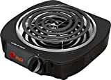 Portable Single Electric Hot Plate Stove Travel Cook Dorm / Countertop