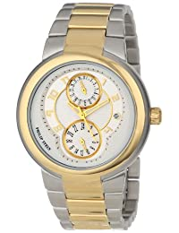Philip Stein Women's 31TG-AGW-TGSS Active Two-Tone Gold Plated Bracelet Watch