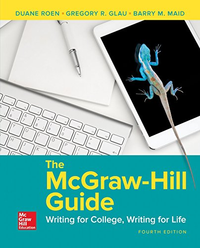 The Mcgraw Hill Guide  Writing For College  Writing For Life