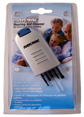 Rayovac Hearing Aid Cleaning Kit, 5 Tools in 1 Claner Kit. Works with All Hearing