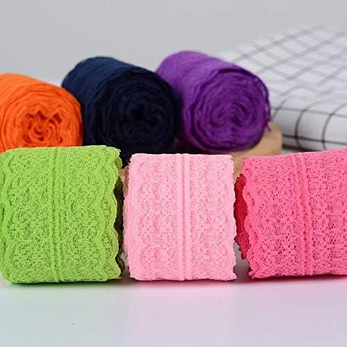 LGCD 10Meters /ロット4.5センチメートルレーステープDIYアパレル縫製ファブリックホワイト・ブラック・ブルー・ピンクパープルレッドレーストリミングギフトはレースリボン包装します (Color : Light Purple)