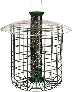 droll yankee sdc green wild bird feeder with domed cage - Squirrel Proof Bird Feeders