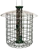 Droll Yankees Squirrel Proof Bird Feeder, Sunflower Domed Caged Bird Feeder SDC, 15 Inch, 1 Pound Seed Capacity, 4 Ports, Green (DROSDC)