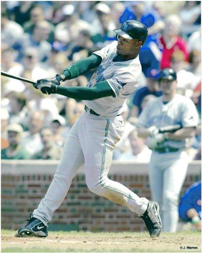 (Carl Crawford Tampa Bay Rays Unsigned Baseball Photo)