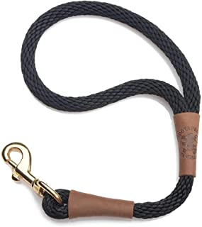 product image for Mendota Pet Traffic Leash - Short Dog Lead - Made in The USA - Black, 1/2 in x 16 in
