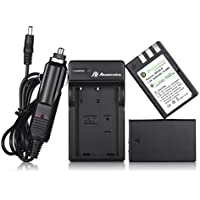 Powerextra EN-EL9 2 Pack 2000mAh Li-ion Replacement Battery and Charger for Nikon D40 D40x D60 D3000 D5000 Cameras with Car Charger