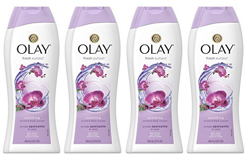 - Body Wash for Women by Olay, Fresh Outlast Soothing Orchid & Black Currant Body Wash 22 oz, (4 Count)