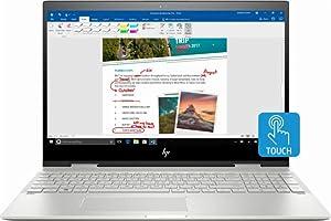 HP Flagship Envy x360 2-in-1 15.6 inch FHD IPS Touchscreen Laptop, Intel i7-8550u Quad-Core, Intel 512GB PCIe SSD, 12GB DDR4, Backlit Keyboard, Wireless AC WiFi, USB C, HDMI, Bluetooth, Windows 10