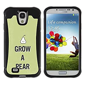 All-Round híbrido Heavy Duty de goma duro caso cubierta protectora Accesorio Generación-II BY RAYDREAMMM - Samsung Galaxy S4 I9500 - Pear Raw Food Fruit Healthy Green Lifestyle Eco