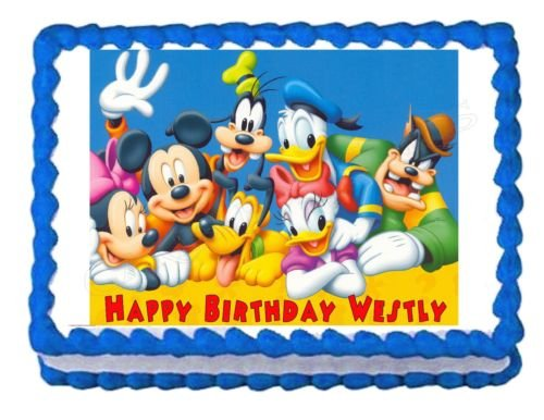 (MICKEY MOUSE CLUBHOUSE party decoration edible cake image cake topper)