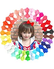 "30 Colors 2.75"" Hair Bows Baby Girls Headbands Soft Elastic Hair Bands Head Wear for Newborn Infant and Toddlers"