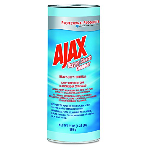 Ajax 14278CT Oxygen Bleach Powder Cleanser, 21oz Can (Case of 24) - Oxygen Cleanser Bleach Ajax