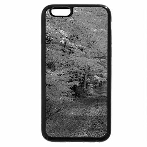 iPhone 6S Case, iPhone 6 Case (Black & White) - path in autumn