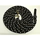 Base Lead Rope 4m in Black/Brown/Natural Cotton Core Coat Cord/Rope