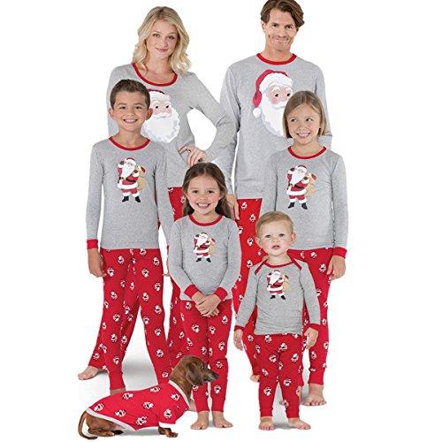 Lily.Pie Family Matching Pajamas Set Women Baby Kids Sleepwear Nightwear Gifts Christmas Pajamas Set (Kids, 4-5Y) -
