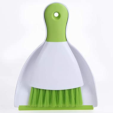 Choppie Dust Pan and Brush, Mini Hand Broom and Dustpan Set, Dust Pan Brush Nesting Tiny Cleaning Broom, Dust Pan and Brush Set for Table, Desk, Countertop, Key Board, Cat, Dog and Other Pets, Dustpan