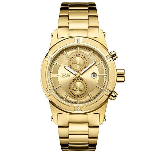 JBW Men's J6263E Strider 18K Gold-Plated Stainless Steel Multi-Function Diamond Watch ()