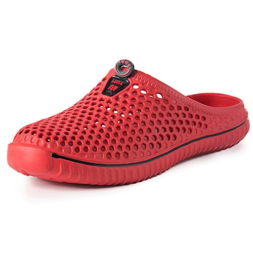 PutiTower Unisex Garden Clogs Shoes Sandal Comfortable Slippers Red ue87s