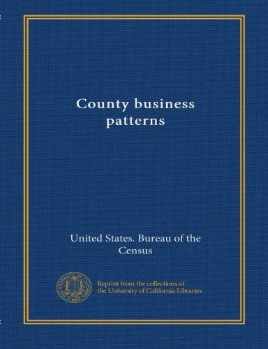 County business patterns (no.33 1997) pdf epub