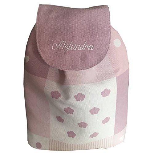 mochila bebe pach rosa con nombre bordado