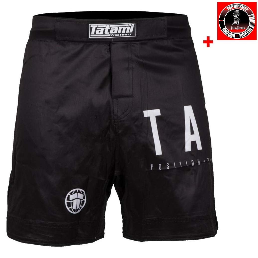 Tatami No Gi Jiu Jitsu Shorts Preto - MMA Fight Fitness No Gi Grappling Jiu Jitsu Shorts Kurze Kampfsporthose für Herren - Von der  1 BJJ Marke