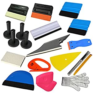 Ehdis 15 Kinds of Car Vinyl Wrap Tool Window Tint Kit for Auto Film Tinting Scraper Application Installation
