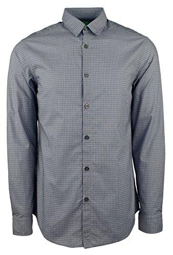 Hugo Boss Men's Green Label C-Bustai Regular Fit Geometric Dress Shirt-BG-S by Hugo Boss