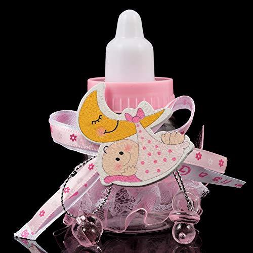 24Pcs Baby Candy Bottles Baby Shower Bottles Candy Bottle Party Candy Bottle Favor Box Baby Bottle Shower Favor Candy Favor Boxes for Newborn Girl Baby Shower