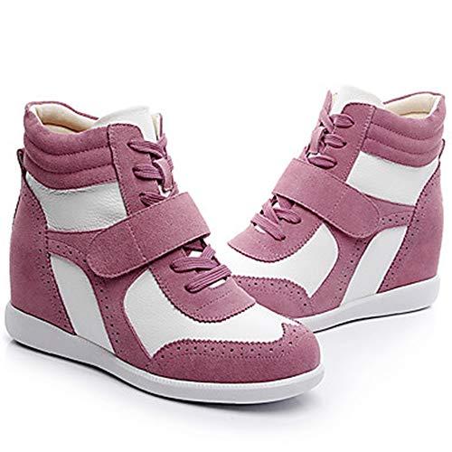 EU39 Inverno Zeppa 5 Rosa E TTSHOES Pink Tonda White Marrone CN40 Stivali Comoda Sneakers UK6 Bianco Pelle Autunno Per Scarpe US8 5 Blue Punta Donna q4g4Xw1z