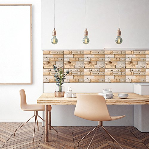 Weiliru Wall Stickers 3D Wallpaper Wall Sticker Wall Decor Embossed Brick Simulation Tile Wall Sticker Cabinet Window sill Living Room Porch Bedroom TV Background Wall Decoration ()