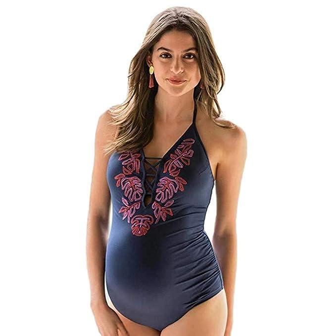 1452c47ba041 Daringjourney Traje de baño Mujer Embarazada,Bañador de Bikini con ...