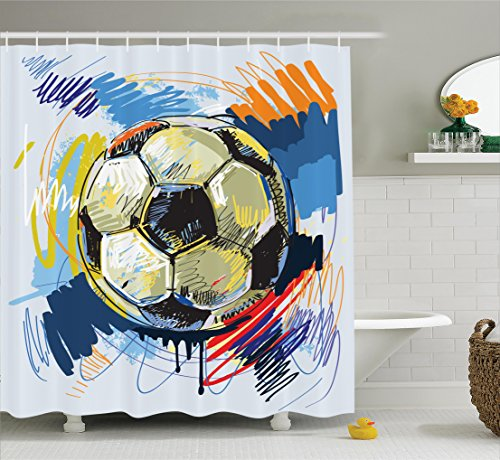 Ambesonne Collection Polyester Bathroom Curtain
