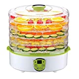 UniDargon Electric Food Dehydrator Fruit Vegetables Dryer Machine Electric 5 Tier Food Preserver with Adjustable Temperature & Digital Timer