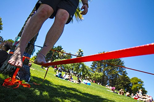 Slackline Kit: 52 Foot Classic Trickline Slackline Set for Slackers of all ages from Slackline Kids to Slack Line Adults