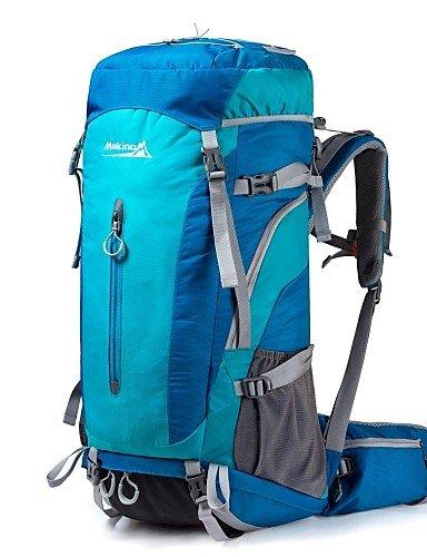 ZQ makino 55l + 5l wasserdichtem Nylon Outdoor-Rucksack mit Regenschutz