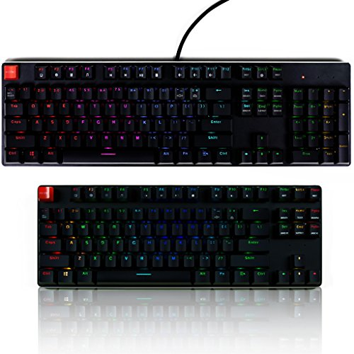 Glorious Modular Mechanical Gaming Keyboard - Full Size (104 Key) - RGB LED Backlit, Brown Switches, Hot Swap Switches (Black)(GMMK-BRN) by Glorious PC Gaming Race